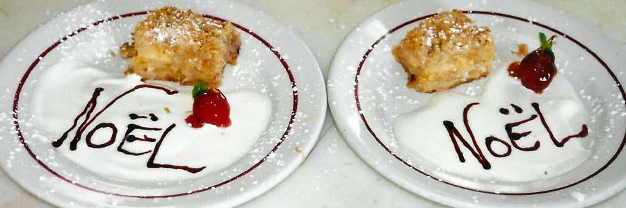 Dessert de Noël aux pommes du verger