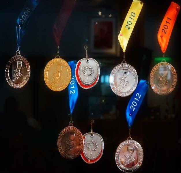 Médailles de distinctions cidres Léo Boutin